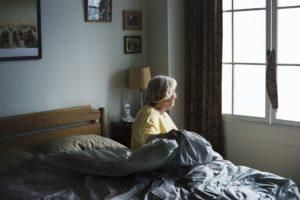 senior arsing from bed